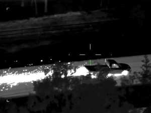 Sparks fly as man leads police on dramatic car chase