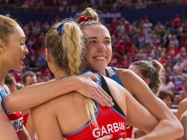 Sophie Garbin and Sarah Klau after the win.