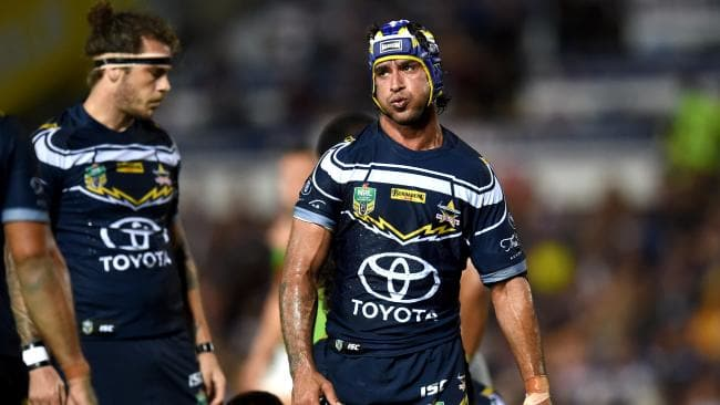 Johnathan Thurston and the Cowboys have struggled in 2018. Picture: Alix Sweeney