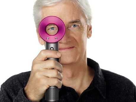 Dyson founder Sir James Dyson with the supersonic hair dryer that contains the motor in the handle and is designed to be quieter and more stable than others.