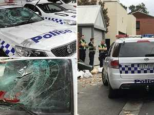 Police attacked, cars smashed at out-of-control party