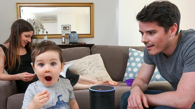 The Amazon Echo device can listen to you even when it is shut down.  Picture:  Ian Currie