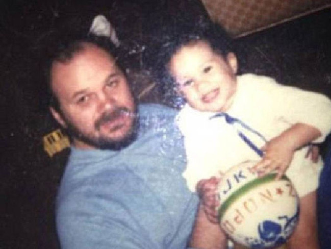 Meghan Markle pictured with her father Thomas Markle when she was a child. Picture: Supplied/ Instagram