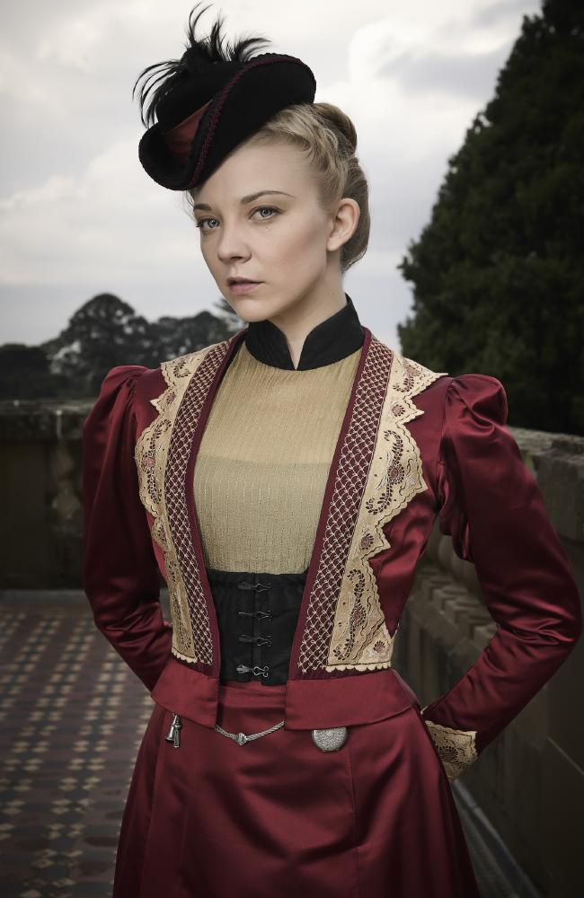Natalie Dormer as Mrs Hester Appleyard in Picnic At Hanging Rock. Picture: Supplied/Foxtel