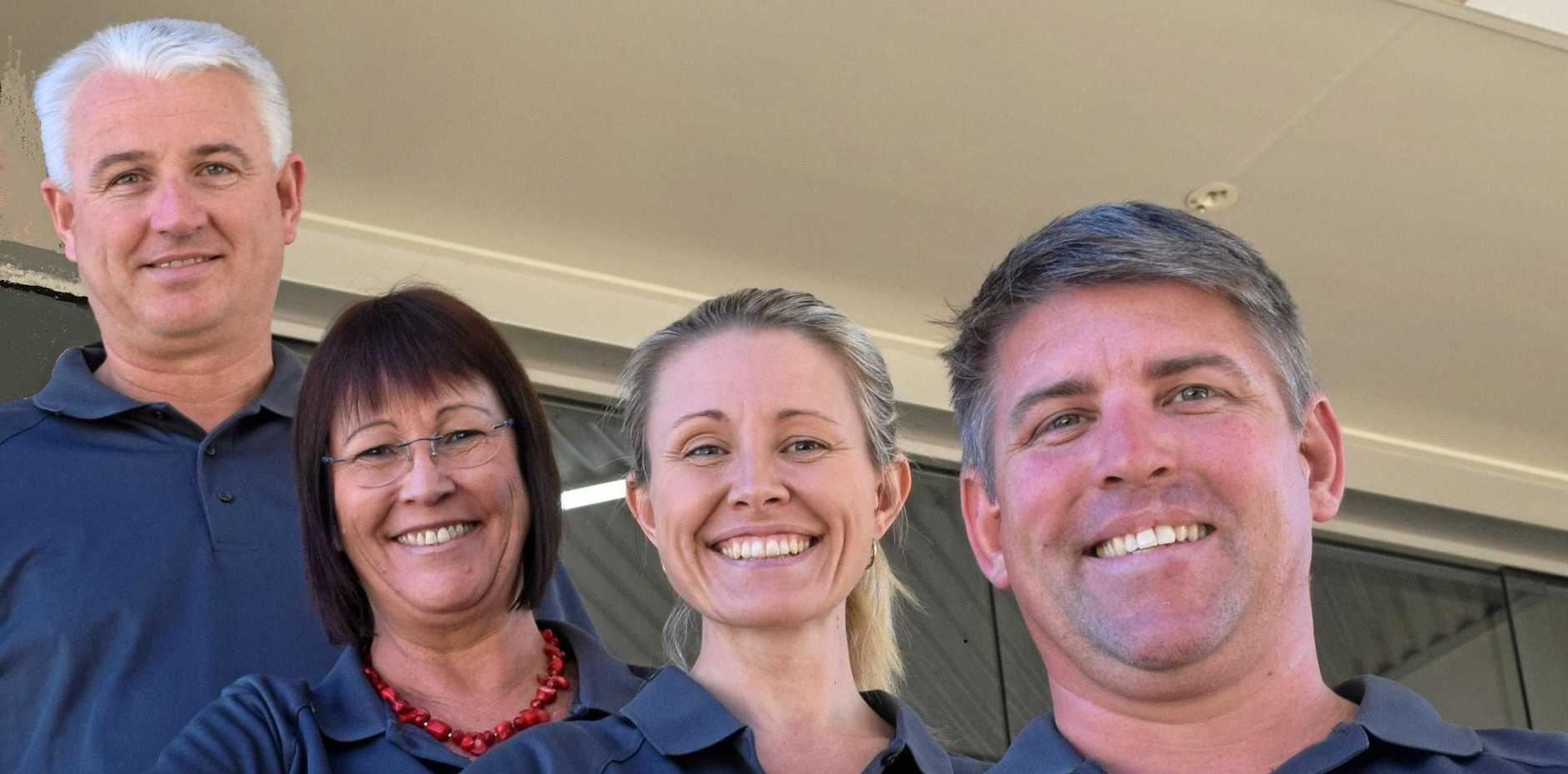 QUALITY ASSURED: Oakvale Homes staff Karl Moore, Daph Backhouse, Sharon Hansen and Kurt Hansen.