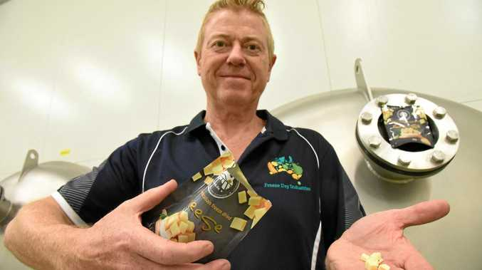 FOOD OF THE FUTURE: Yandina's Freeze Dry Industries CEO and founder Michael Buckley with the new Sunlife Freeze Dried Cheese.