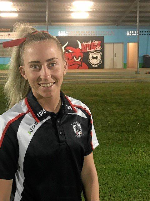 Ipswich City Bulls footballer Lareena Meiklejohn scored four goals in her latest game.