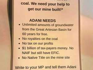 Disguised 'Adani' flyer distributed