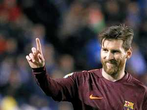 Messi hits three as Barca win Spanish La Liga title