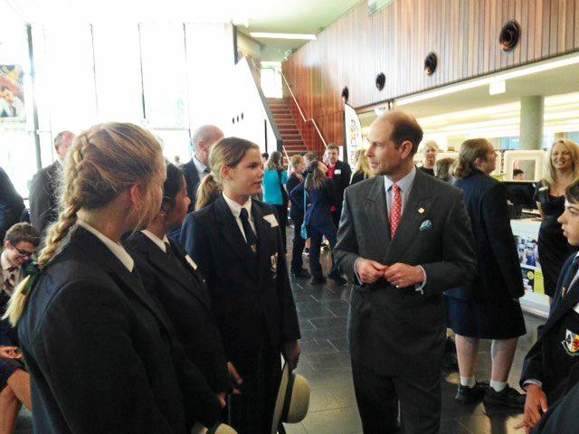 ROYAL HONOUR: Warwick's Duke of Edinburgh students were