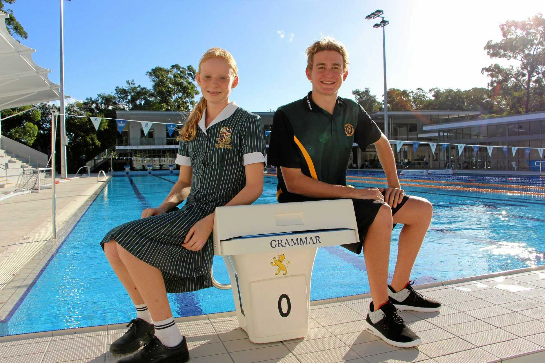 sLucy Dring and Troy Carlson. Troy has success at the national swimming championships in Sydney.