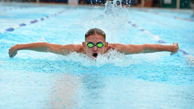 Troy Carlson at the James Nash swimming carnival Photo Renee Albrecht/Gympie Times