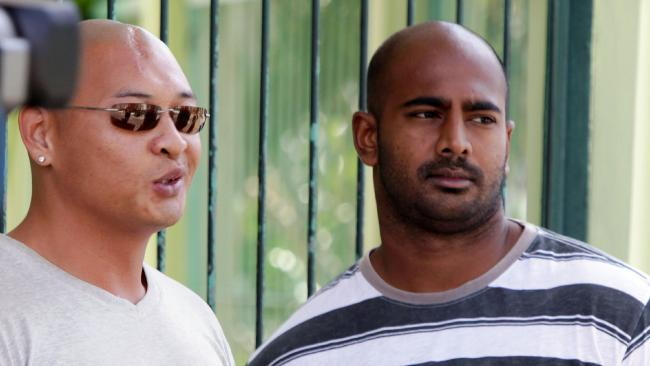 Andrew Chan and Myuran Sukumaran on death row at Kerobokan jail in 2011. Picture: Firdia Lisnawati/AP