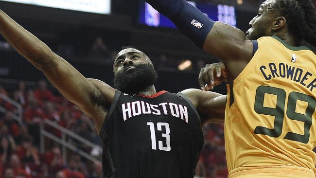 James Harden leads Houston to Game 1 win.