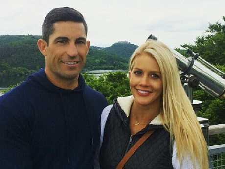Ali Oetjen and her ex fiance Dave Waldeck. Picture:Instagram/@alioetjen