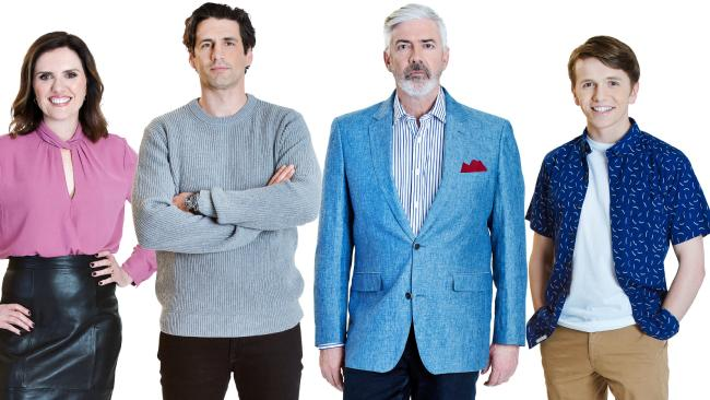 Talkin' 'Bout Your Generation host Shaun Micallef with team captains Andy Lee, Robyn Butler and Laurence Boxhall.