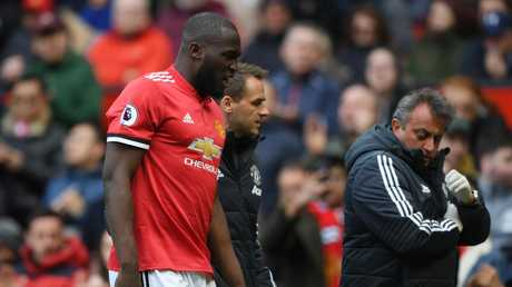 Romelu Lukaku suffered a foot injury against Arsenal.