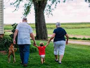 Baby taken from 'elderly' parents
