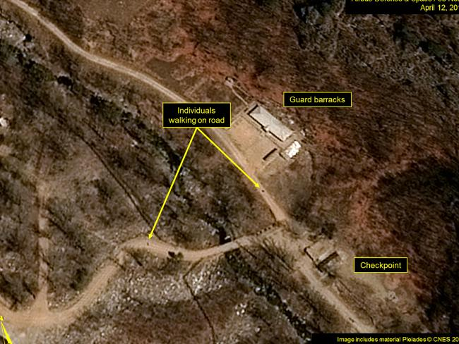North Korea has vowed to shut down the Punggye-ri nuclear test site and disclose the process to experts and journalists from the South. Picture: Airbus Defense & Space/38 North/Pleiades CNES/Spot Image/AP