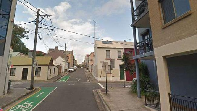 The incident took place at Renwick Street in Redfern last night. Picture: Google Maps
