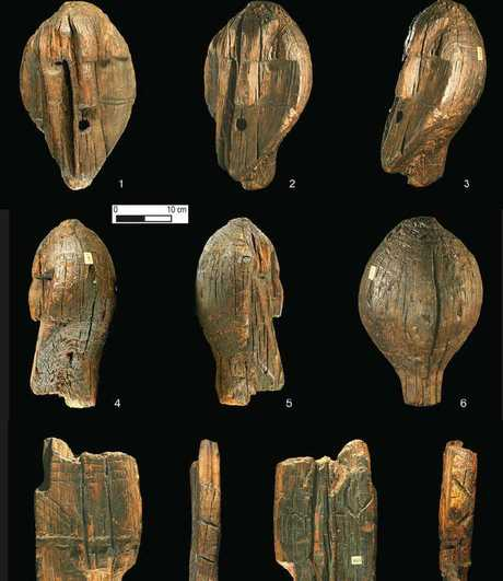 A team of researchers in Germany has found evidence suggesting that the famous wooden Shirgir Idol is actually 11,500 years old. Picture: Antiquity