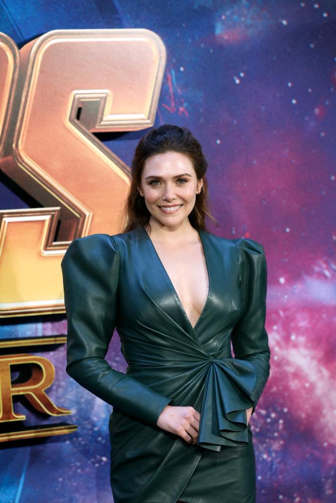Elizabeth Olsen at the Avengers: Infinity War fan event in London.