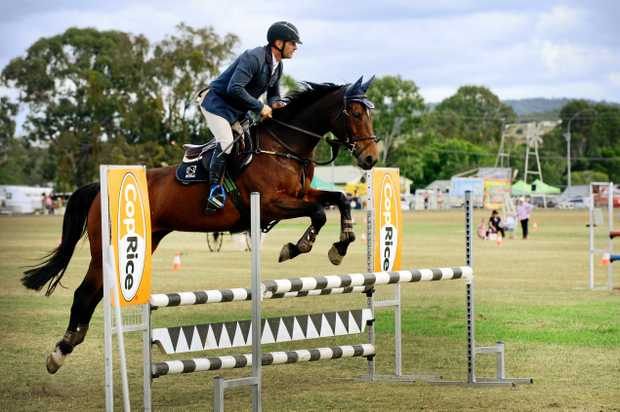 PLENTY TO SEE: Stuart Jenkins, of Glamorgan Vale, on Tulara Quinney in the show jumping at a previous Marburg Show.