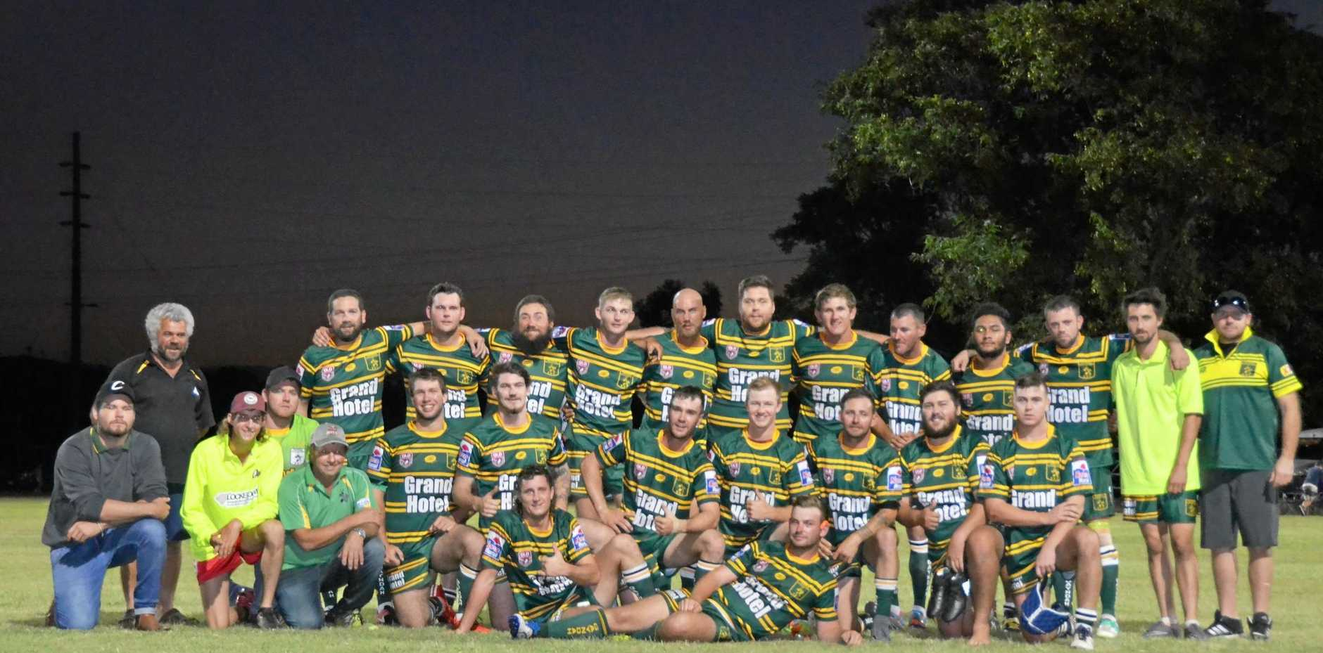 WINNERS: Gayndah Gladiators had a massive win over Biggenden Warriors with a score of 54 to 14.