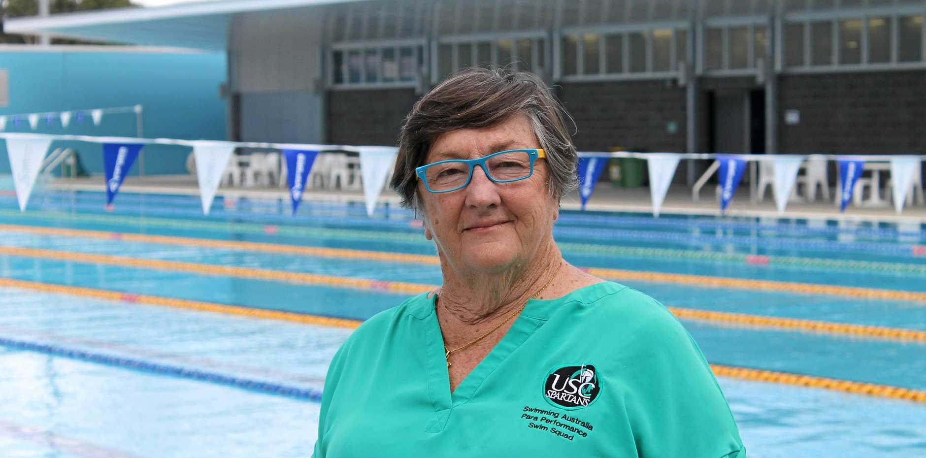 SWIM COACH: Jan Cameron at the University of Sunshine Coast pool.