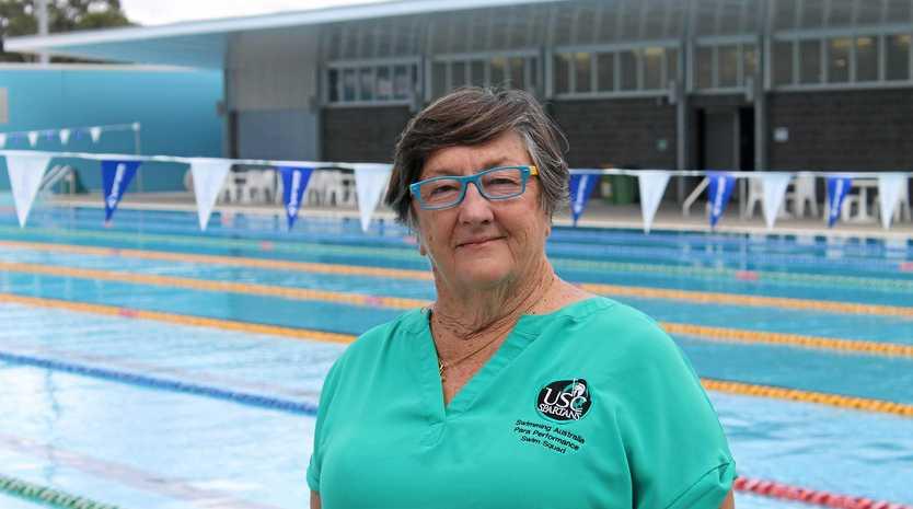 SWIM COACH: Jan Cameron at the University of Sunshine Coast pool.