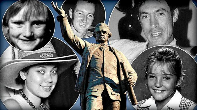 Should murder victims like (clockwise from lower left) Bianca Faith Girven, Stacey-Ann Tracy, Paul Louis Summers, Stephen Dempsey and Ebony Simpson be commemorated on a national memorial for violence victims? Or should the Federal Government spend millions on another Captain Cook statue.