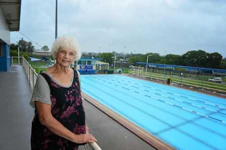 Jan Mulholland at the Gympie memorial pool in its final week of being open.