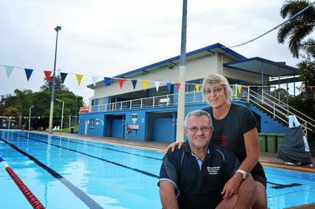 Jeff and Libby Manthey the final days of Memorial pool in Gympie.