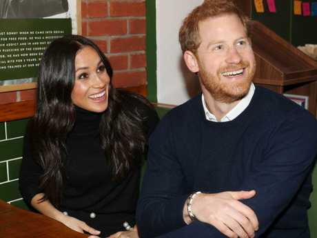Prince Harry and Meghan Markle visit Social Bite, a business and cafe, during a visit to Scotland. Picture: AFP