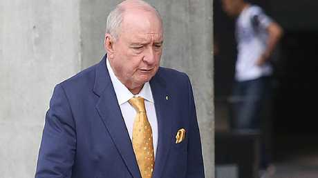 Radio host Alan Jones arrives at the Supreme Court in Brisbane today. Picture: Jono Searle/AAP