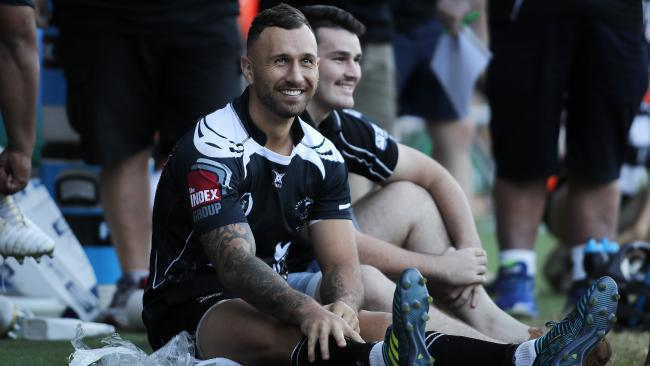 Quade Cooper is happy playing for Souths in Brisbane club rugby.
