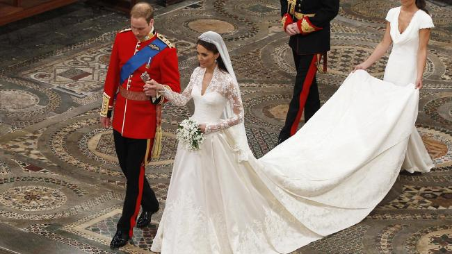 Kate Middleton wore McQueen. (AP Photo/Kirsty Wigglesworth, file)