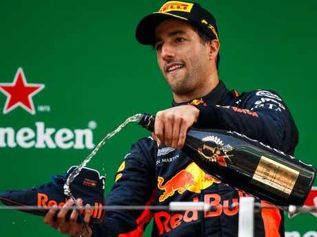 Daniel Ricciardo is a Shoey enthusiast.