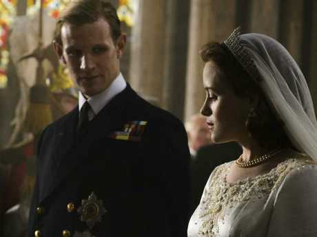 Claire Foy and Matt Smith in The Crown. Picture: Alex Bailey/Netflix