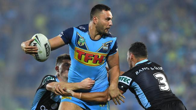 Ryan James in action against Cronulla. Picture: AAP Image