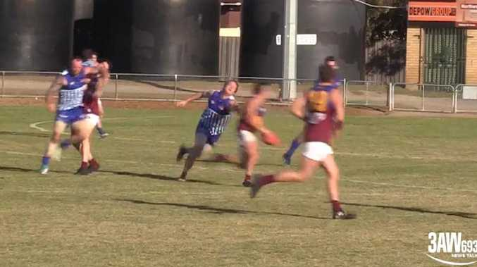 Reservoir's Ashley Cluney makes contact with a South Morang opponent.