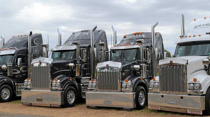 GREAT LINE-UP: The fantastic looking trucks from Killen Trucking, from Howlong.