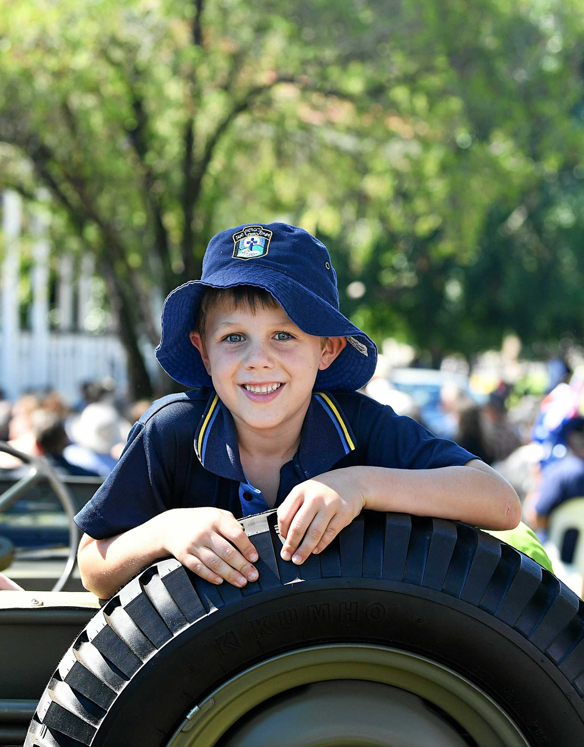 TRADITION LIVES ON: Jamie Corbet was one of hundreds of school children taking part in this year's Anzac Day parade in Gympie.