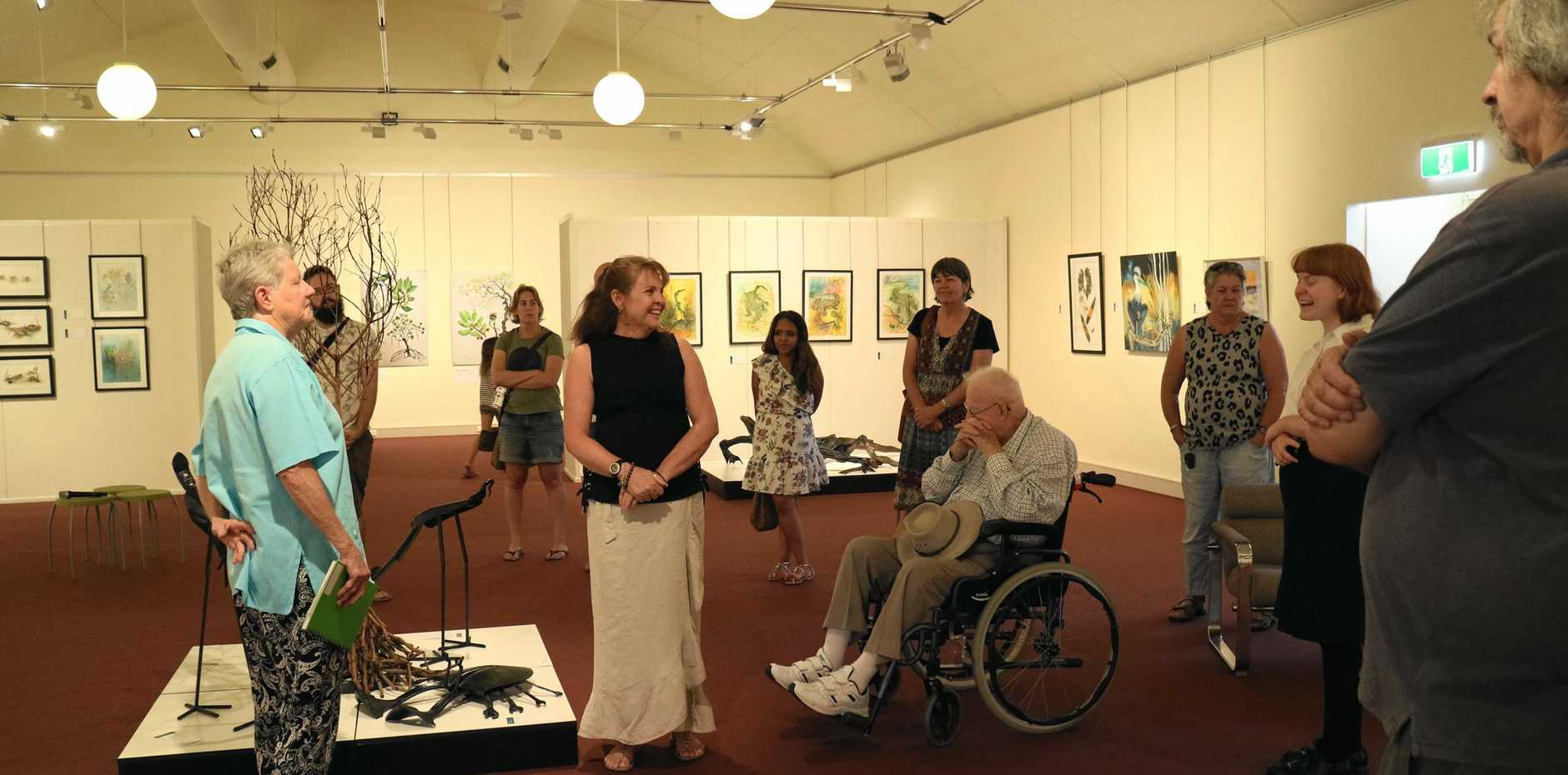 FRAGILE BALANCE: Local artists Rosemary Anderson and Jeanette Albury share their knowledge at an artist talk.