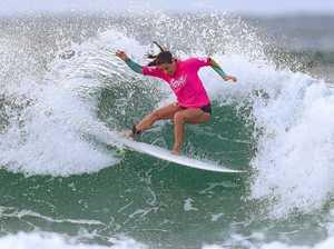 Coast surfers light it up