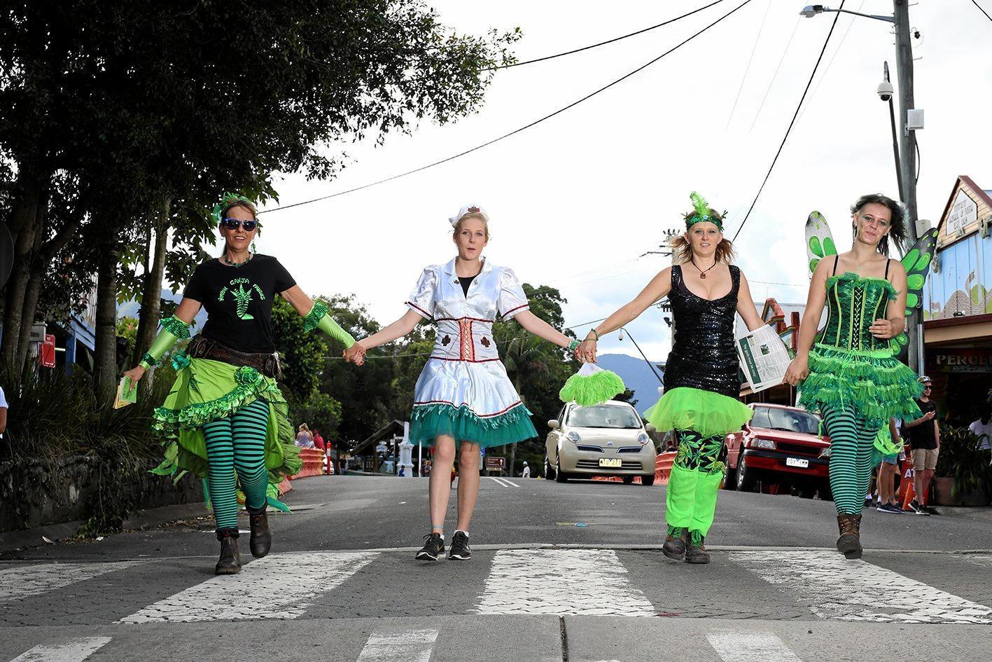 GREEN FAERIES: Nimbin is getting ready for MardiGrass 2018.