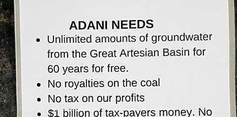 A flyer found in Bowen masquerading as Adani