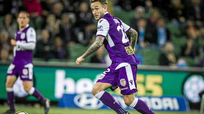 Adam Taggart has left Perth Glory in controversial circumstances, taking up a deal with Brisbane Roar. Picture: Tony McDonough