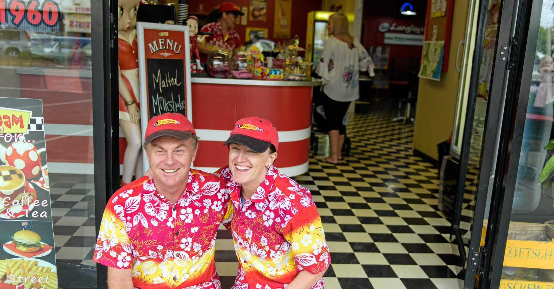 Jeff and Robyn Smith of I-Scream at their shop.
