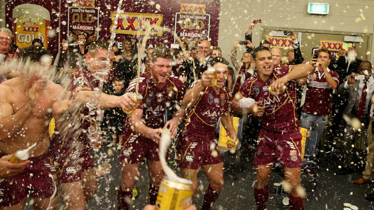 The XXXX will flow in the Maroons sheds if they win another State of Origin series this year. Photo: Adam Head